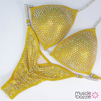 Golden Yellow Competition Bikini