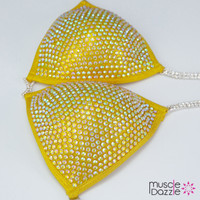 Golden Yellow Competition Bikini