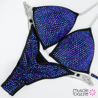 Black and Blue Competition Bikini