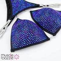 Black and Blue Competition Bikini