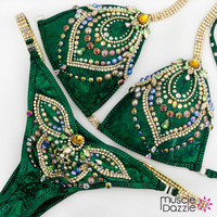 Green Competition Bikini