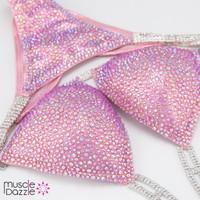Light Pink Crystal Competition Bikini