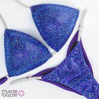 Blue Purple Competition Bikini