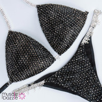 Black and Silver Competition Bikini