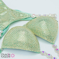 Golden Green Competition Bikini
