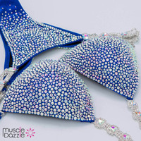 Silver and Blue Competition Bikini