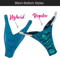 NPC Wellness Hybrid Bikini VS Regular style bikini