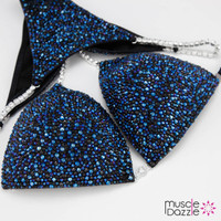 Dark Blue and Black Competition Bikini