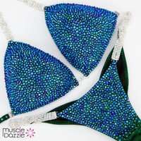 Blue Green Competition Bikini