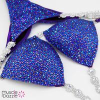 Lavender Blue Competition Bikini