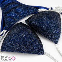 Dark Blue Crystal Competition Bikini