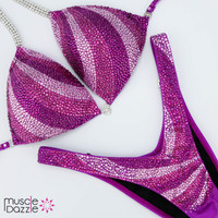 Pink and Purple Figure Suit
