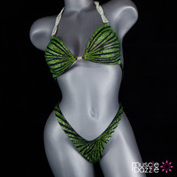 Green Figure Competition Suit