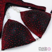 Black and Red Figure Competition Suit