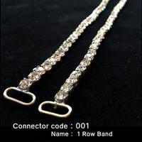 Set of 2 x Bikini Connectors - 1 Row Band Style (001)