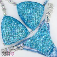 Baby Blue Competition Bikini
