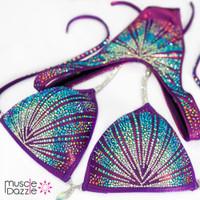 Purple Crystal Figure Competition Suit