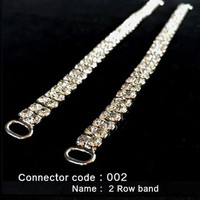 Set of 2 x Bikini Connectors - 2 Row Band Style (002)