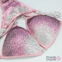 Silver and Pink Competition Bikini