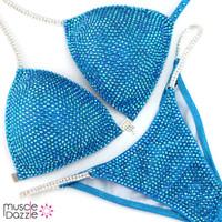 Aqua Blue Bikini Competition Suit