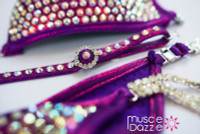 Mulberry Purple Crystal Competition Bikini