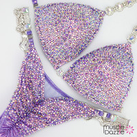 Lavender Crystal Competition Bikini
