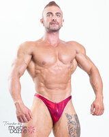 Burgundy Red Bodybuilding Posing Trunks