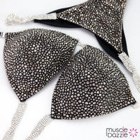 Hematite on Black Competition Bikini
