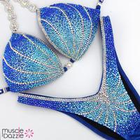 Sapphire Blue Figure Competition Suit