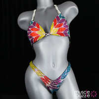 Colorful Figure Competition Suit
