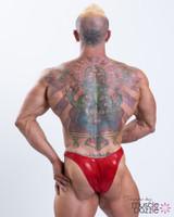 Bodybuilder Red Posing Trunks