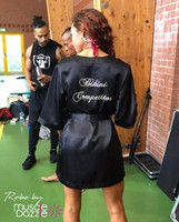 Personalized bikini competition robe