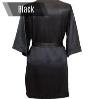 Black personalized bikini competition robe