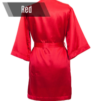 Red personalized bikini competition back stage robe