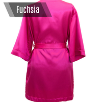 Fuchsia personalized bikini competition back stage robe