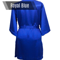 Royal blue personalized bikini competition back stage robe