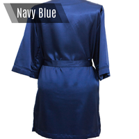Navy blue personalized bikini competition back stage robe