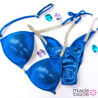 Royal blue competition bikini
