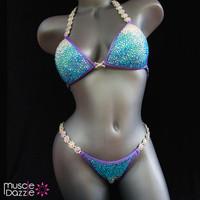 Lavender crystal competition bikini