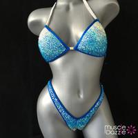Blue Figure Competition Suit