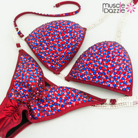 Red and Blue Competition Bikini