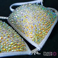 Silver Crystal Competition Bikini (CB070)