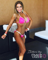Hot Pink Crystal Competition Bikini