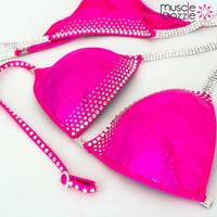 Hot pink crystal bikini