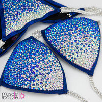 Sapphire blue crystal competition bikini (New)