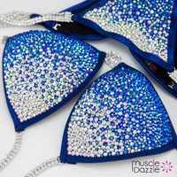 Sapphire blue crystal competition bikini (New)