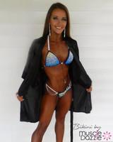 Sapphire Blue Crystal Competition Bikini