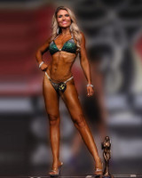 Dark Green Crystal Competition Bikini