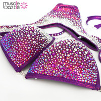 Mulberry Purple Figure Competition Suit  (FS159)
