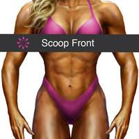 Figure Suit Front Cut - Scoop Cut